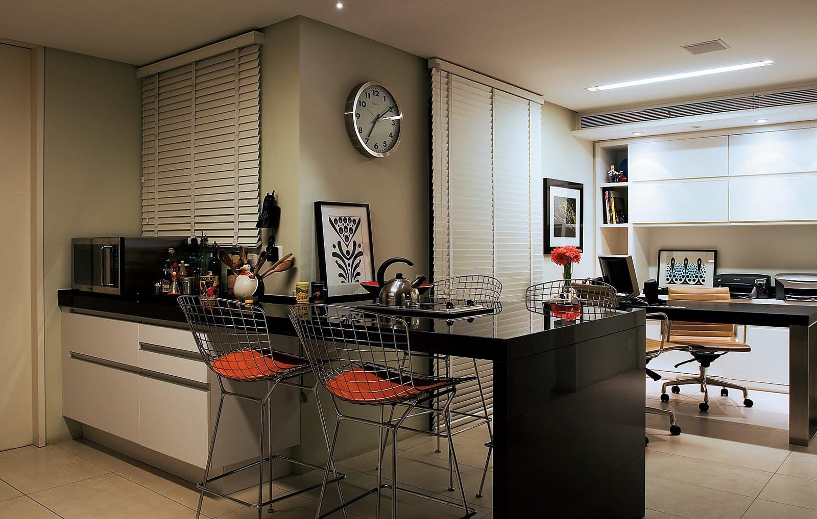 Cozinha integrada com o ambiente de trabalho #AB3A20 1600 1018