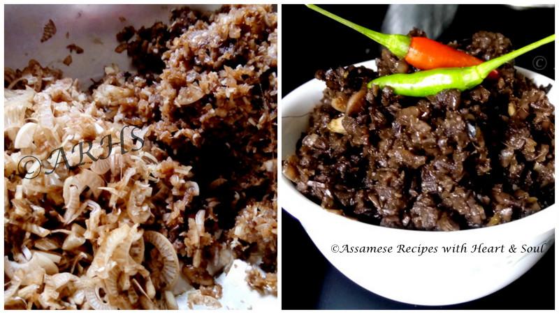 Assamese recipes kol posolar khar banana stem khar kol posolar khar banana stem khar forumfinder Images