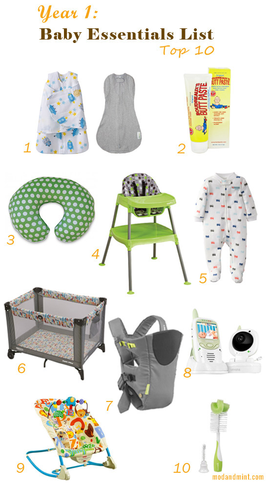 Mod and Mint: Baby's first year top 10 essentials list
