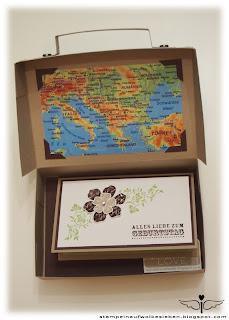 stempeln auf wolke sieben reisegutschein sch n verpackt. Black Bedroom Furniture Sets. Home Design Ideas