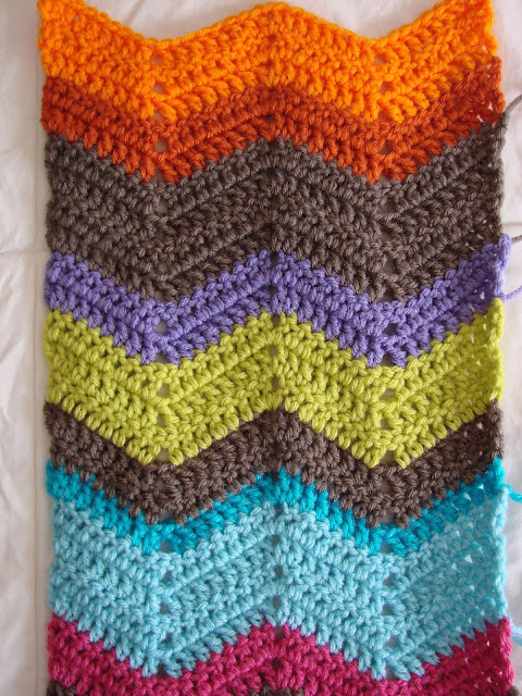 Crochet in Color: Chevron Scarf Pattern