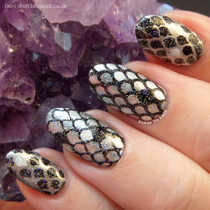 Rainbow Trout nail art