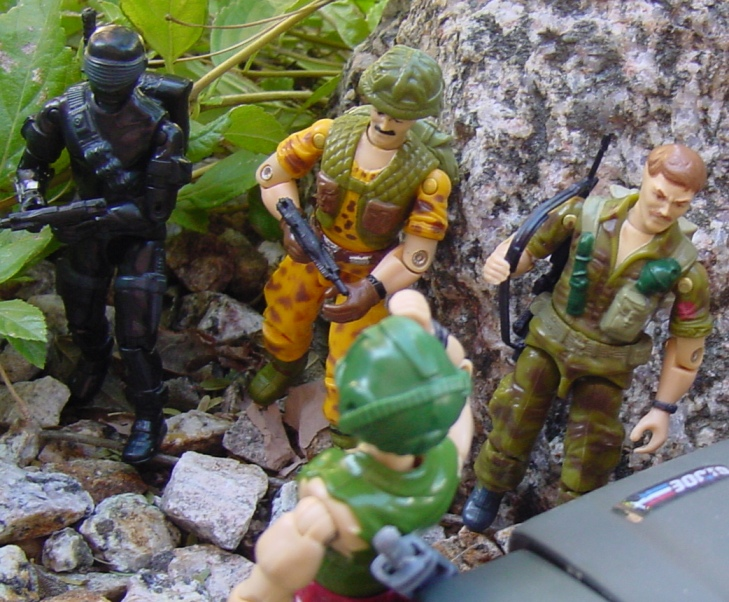 1985 Footloose, Snake Eyes, V2, 1986 Mission to Brazil Claymore, Toys R Us Exclusive, 1988 Wildcard