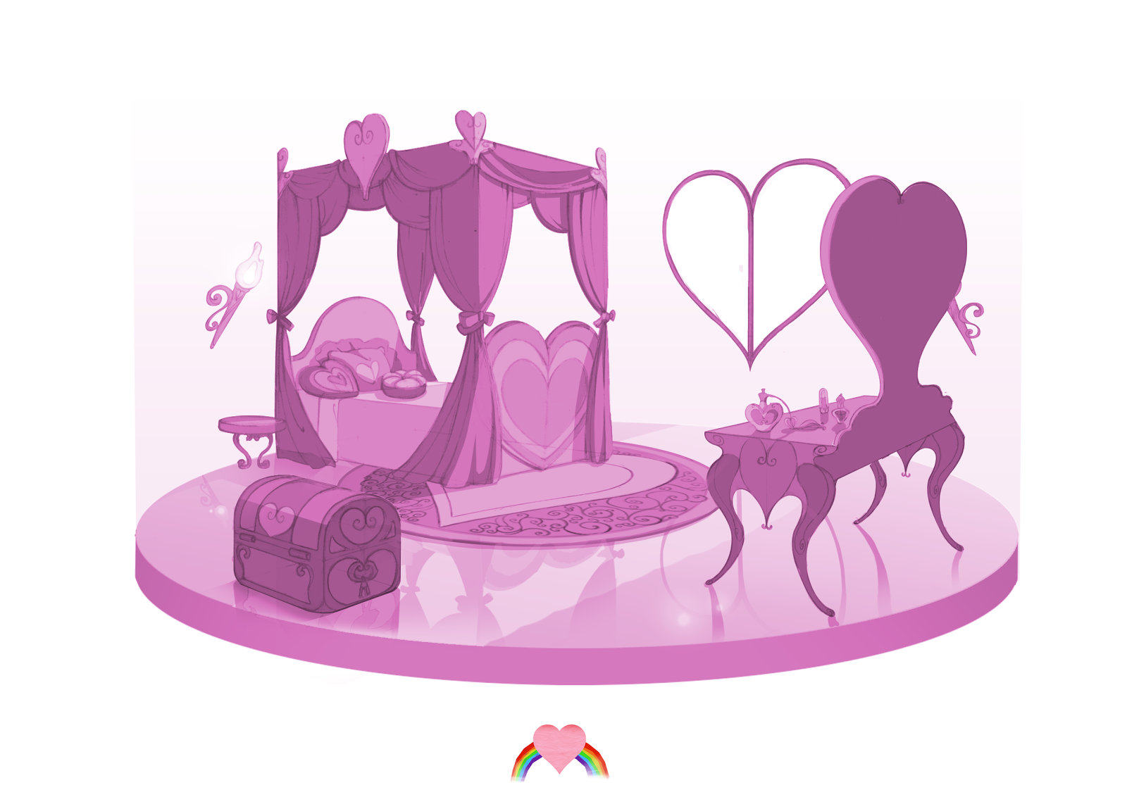 Béré : la chambre de la princesse ponette...
