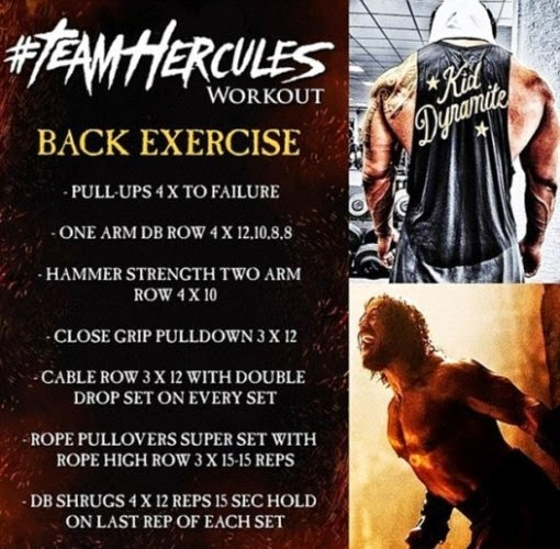 Dwayne Johnson Hercules Back Workout routine