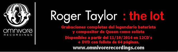 Roger Taylor The Lot  11 de noviembre Lanzamiento Estados Unidos de Norteamérica