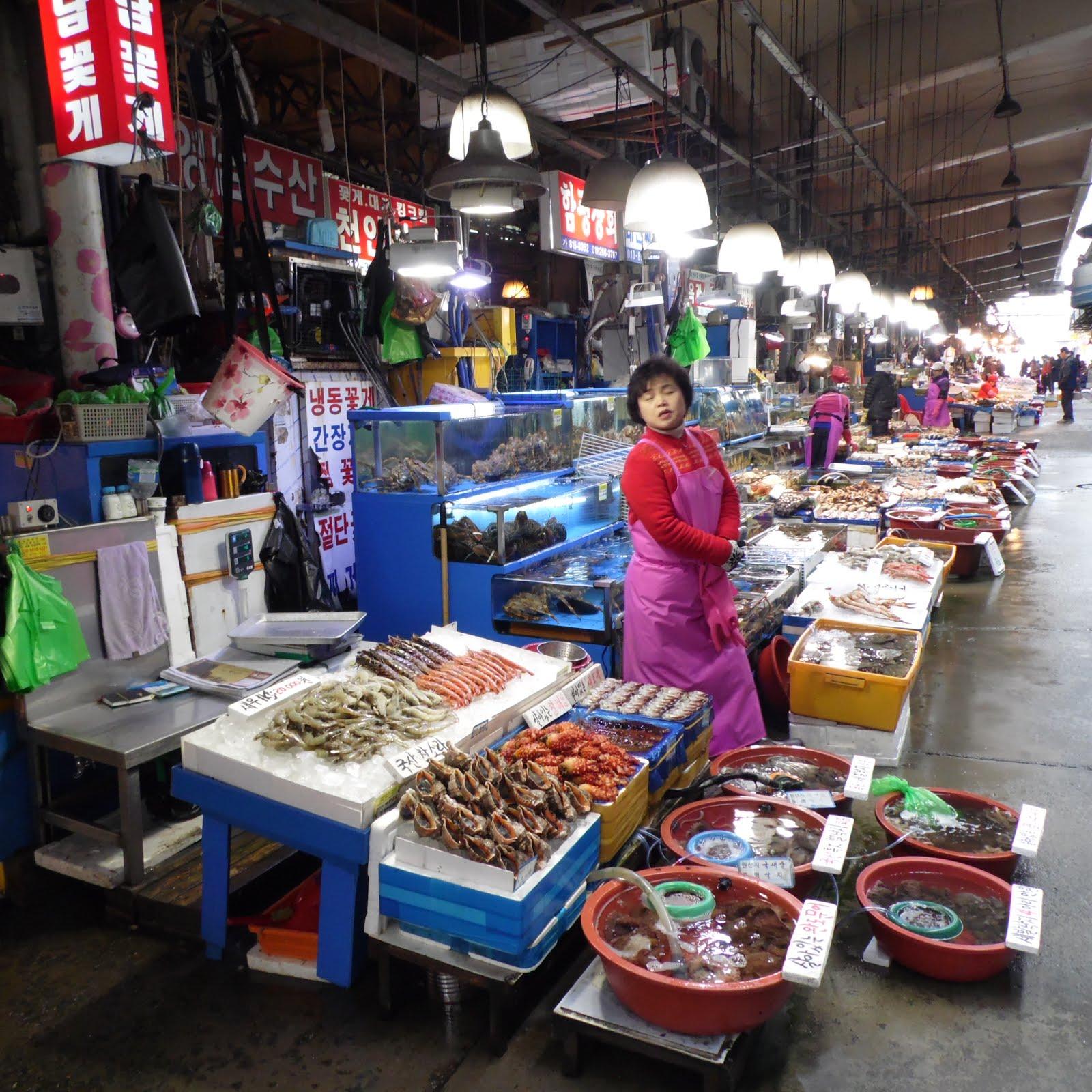 Noryangjin balık pazarı-eski bölüm