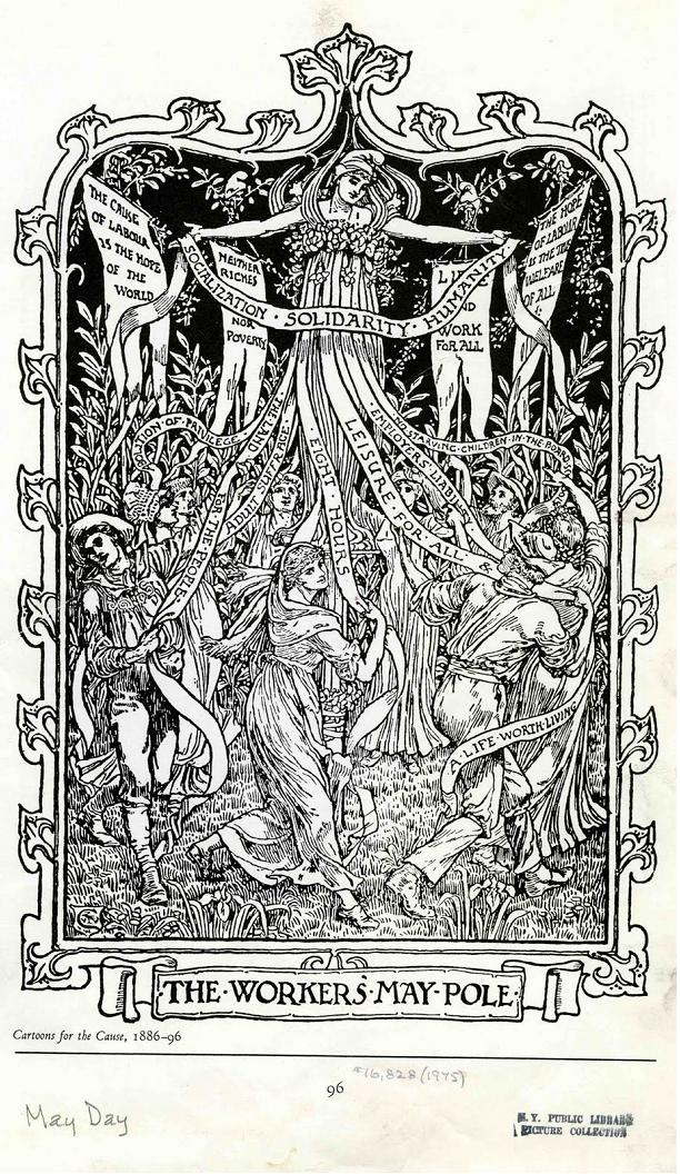 The Workers' May Pole by Walter Crane