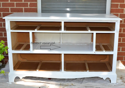 This Was Such A Great Dresser That Was Very Sturdy I Did Not Need To Do Anything To The Area I Turned Into A Shelf Other Than Remove The Drawer Track