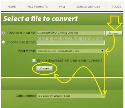 cara merubah file format ods menjadi xls