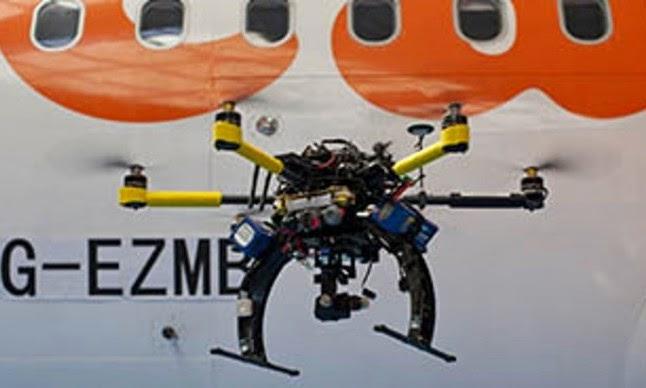 easyJet drone