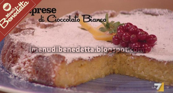 Torta Caprese con Cioccolato Bianco di Benedetta Parodi