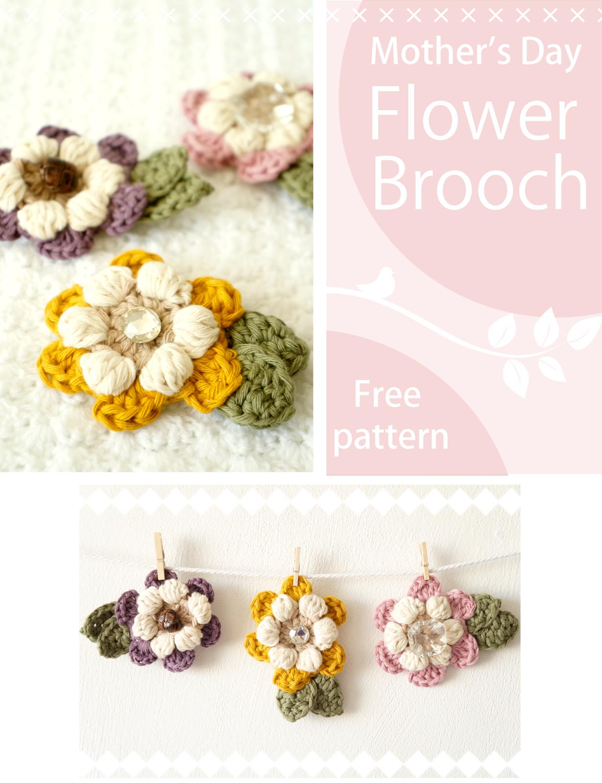 Little Doolally: Mother\'s Day Flower Brooch