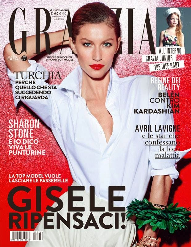 Actress, Producer, Supermodel @ Gisele Bundchen - Grazia Italy, April 2015