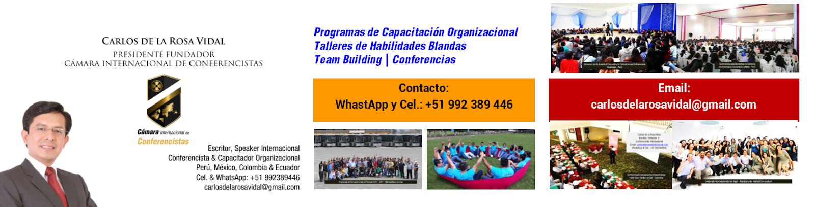 Conferencista Motivacional | Carlos de la Rosa Vidal