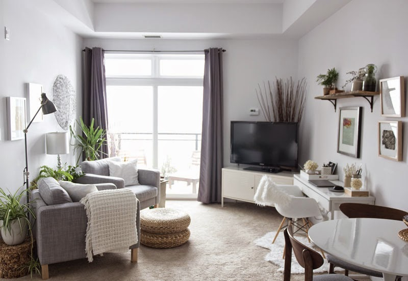 condo, small living, office, dining, living room