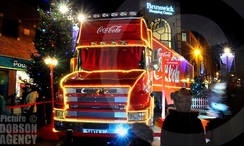 coca cola truck in scarborough