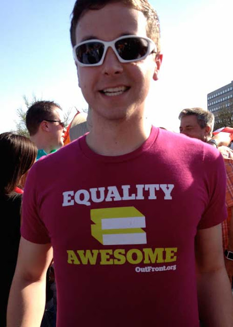 Man in shirt with Equality = Awesome