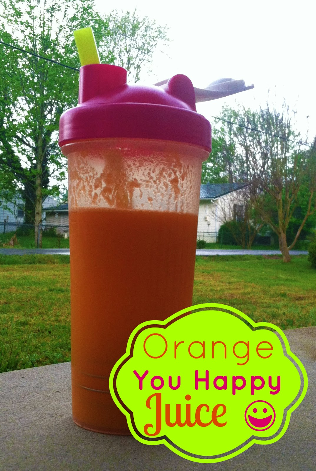 ... Pineapple, Orange, Carrot, Ginger and Coconut Water Juice {Orange You