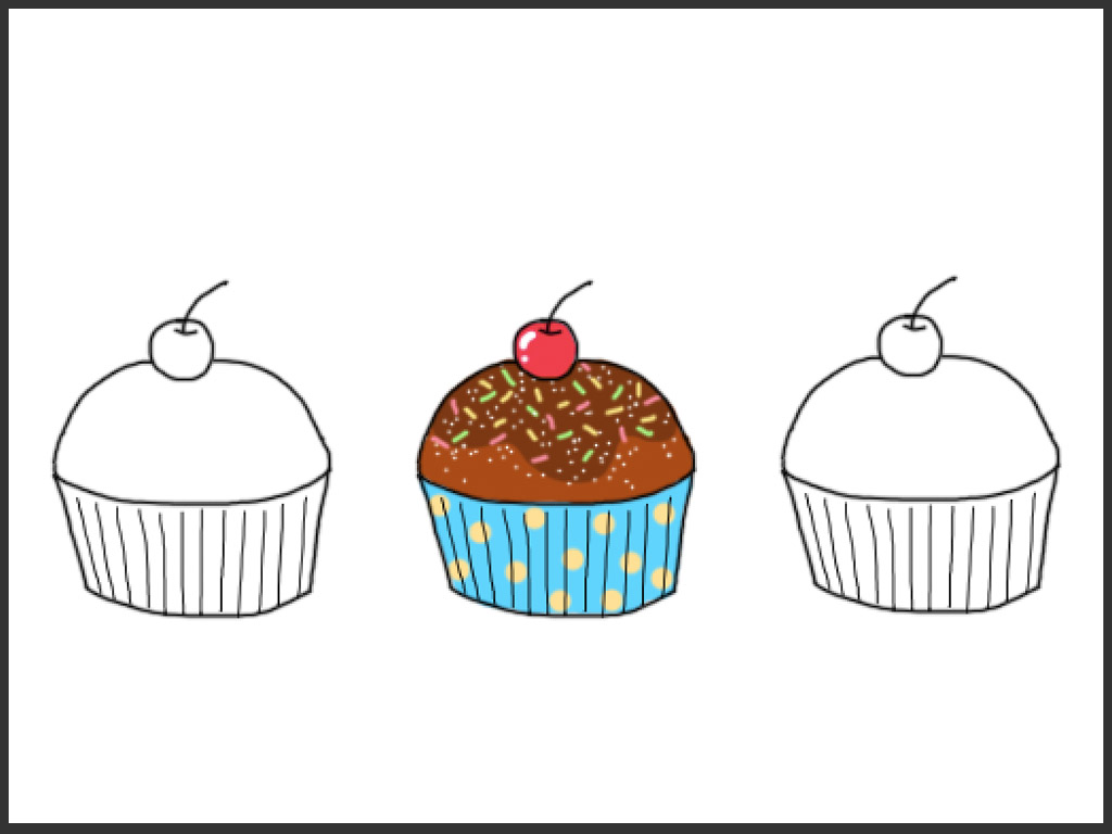 how to draw a cypcake