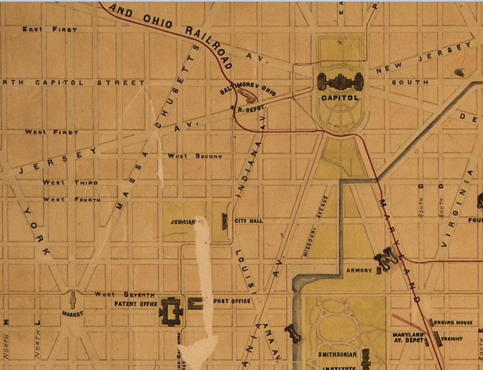 Civil War Washington DC BO Railroad Station New Jersey Avenue