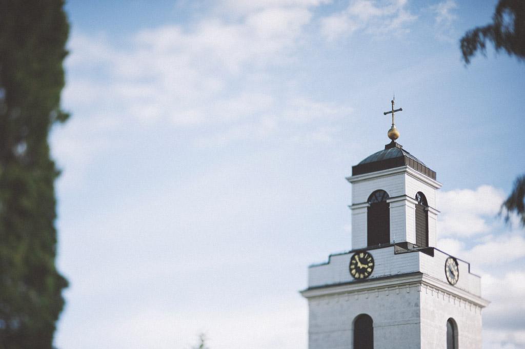 Bjursås kyrka under Hanna och Peters bröllop