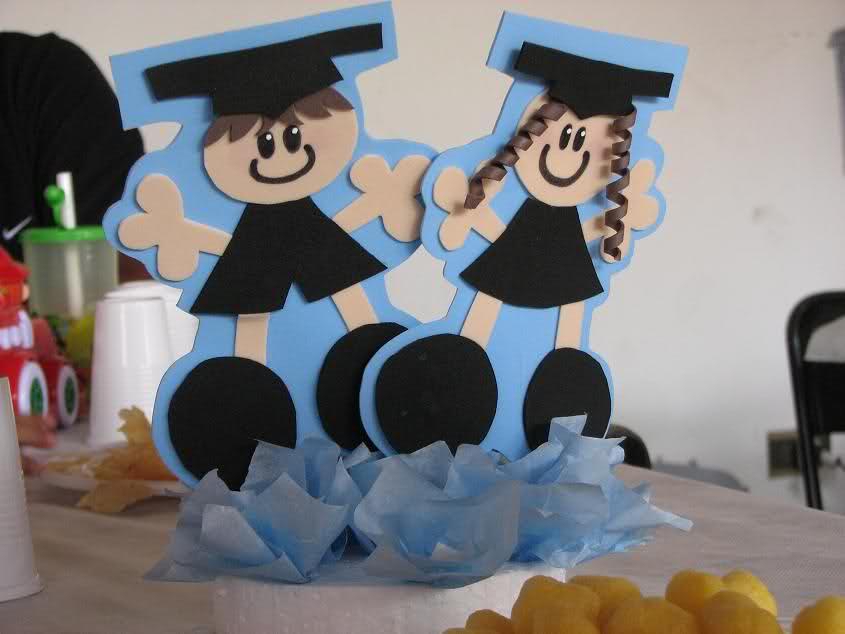 Idea Centro De Mesa Para Graduacion