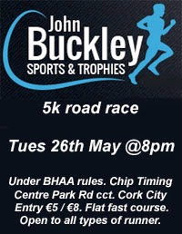 Big 5k race in Cork City...Tues 26th May