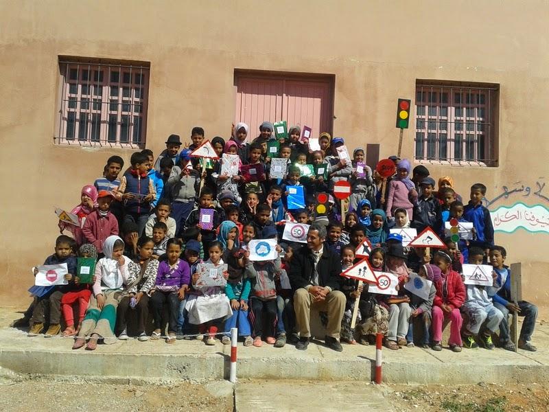 مجموعة مدارس تركمايت نيابة كلميم تحتفل باليوم الوطني للسلامة الطرقية
