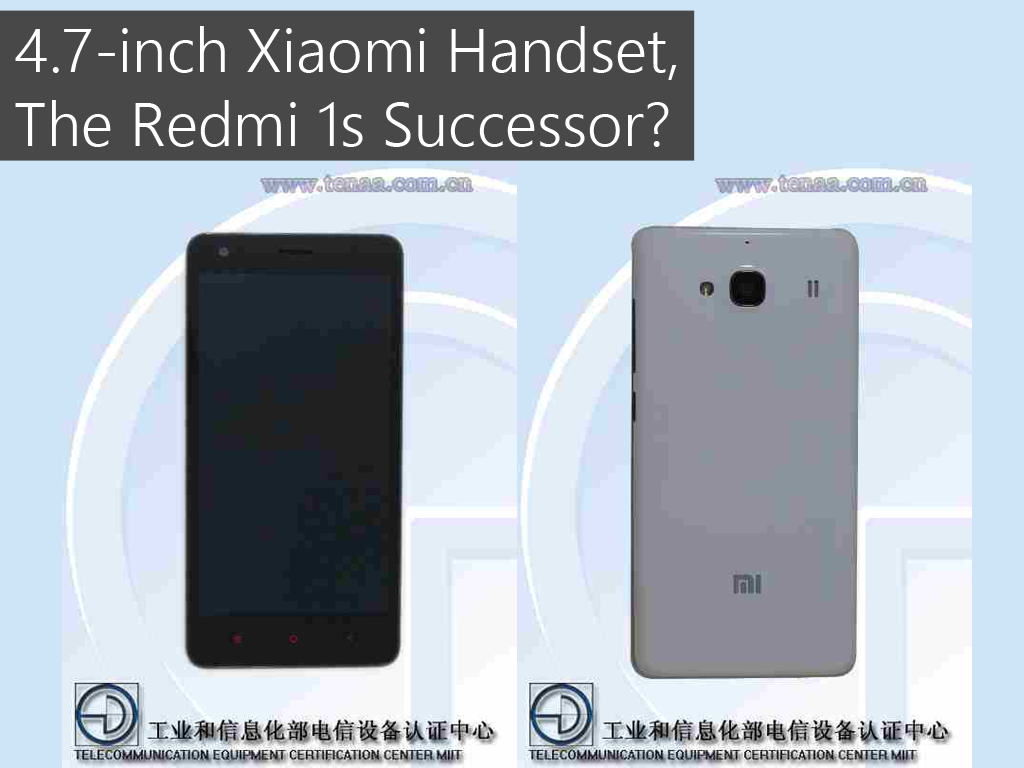 Xiaomi's Upcoming 4.7-inch Revealed! Possibly The Redmi 1s Successor?