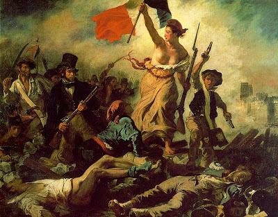 A Liberdade lidera o povo - Delacroix