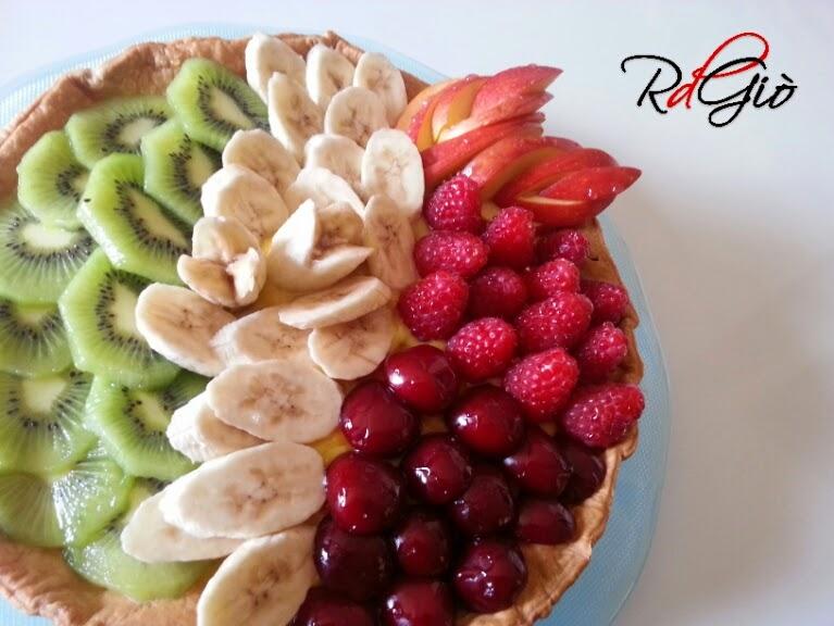 dolce tricolore alla frutta
