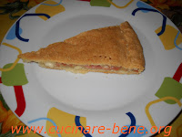 torta salata con speck e taleggio