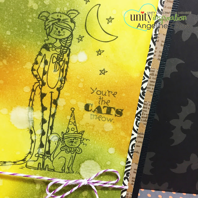 ScrappyScrappy: You're the cats meow #scrappyscrappy #unitystampco #stamp #card #halloween #trickortreat #quicktipvideo #distressink