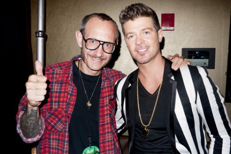Robin Thicke and Terry Richardson at MTV VMA's 2013