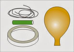 materiales para el experimento de la carrera de globos