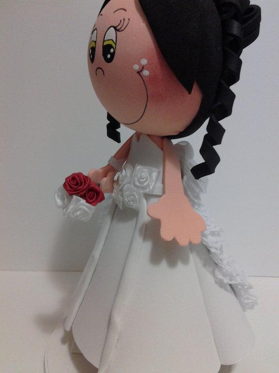 mis fofuchas 2013 artfoamicol: fofucha vestido de novia nupcial
