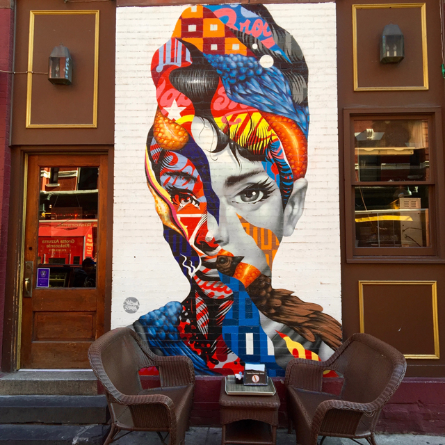 A Day In The Lalz; Travel Blog; NYC; New York City; Street Art NYC; NYC Itinerary; Fun Things to Do in NYC; Audrey Hepburn; 395 Broome St