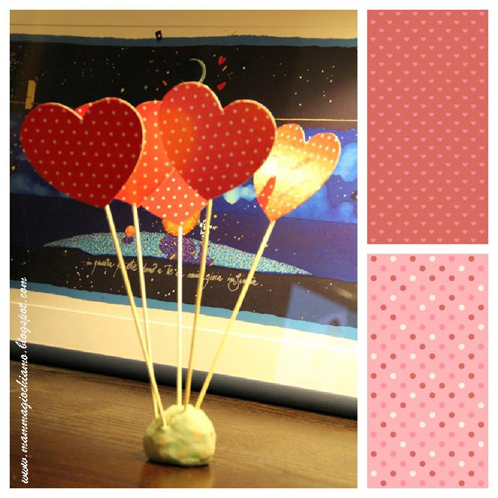 Mamma giochiamo addobbi per san valentino il - Centrotavola natale fai da te ...
