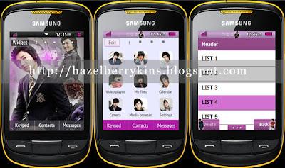 Lee Min Ho Samsung Corby 2 Theme