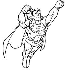 Coloriage Superman À Imprimer - Dessins de Superman à colorier Greluche info