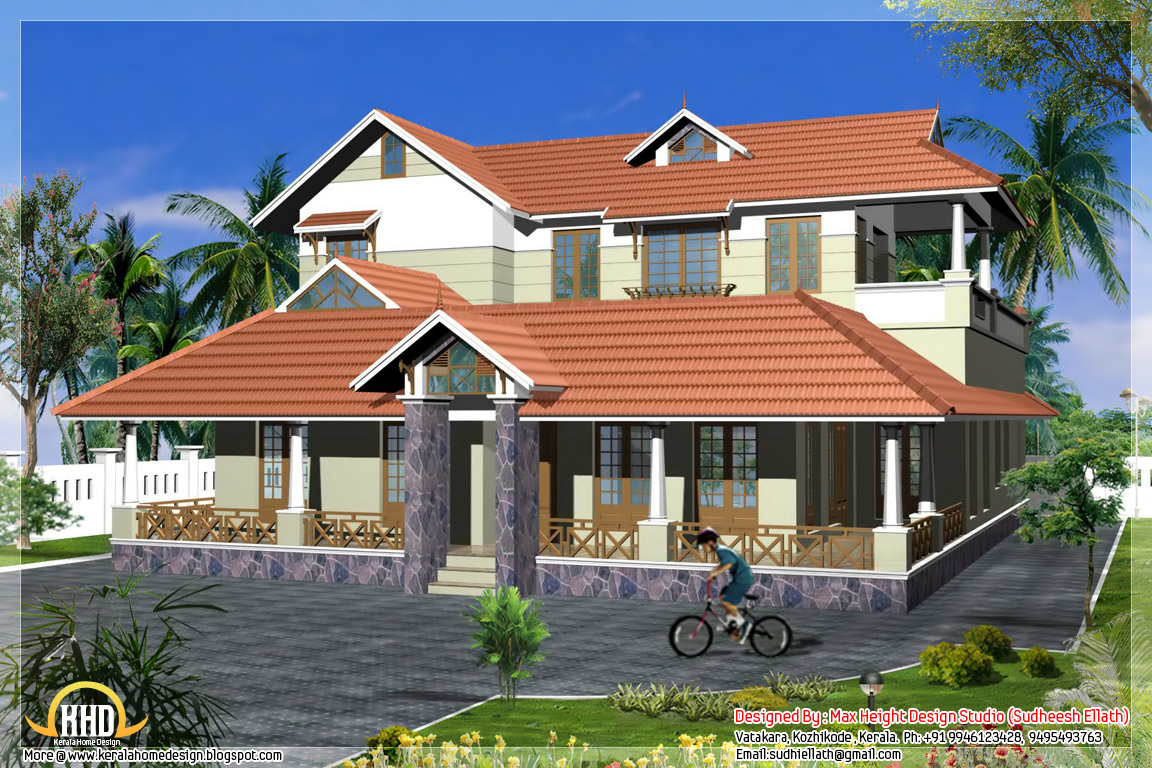 6 different indian house designs home appliance for Roof plans for house