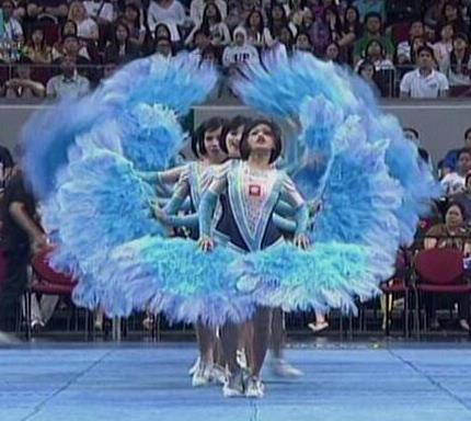 UAAP Cheerdance Competition 2013 - Adamson Pep Squad Goes Burlesque