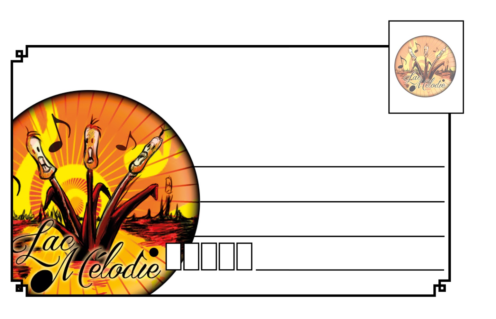 Proposition De Badge Carte Visite Pour Une Chorale Lac Melodie