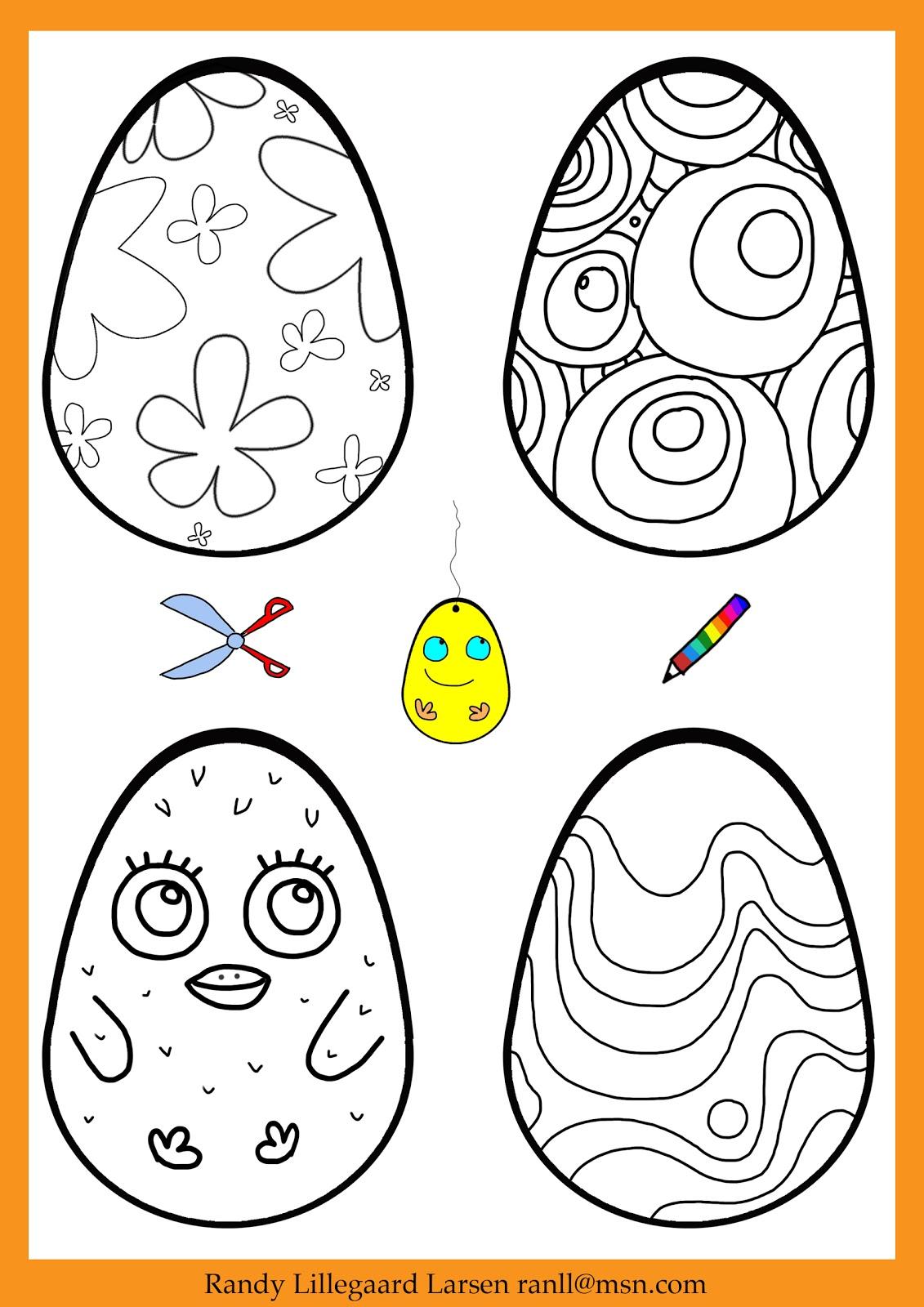 farvelæg dit påskeæg / easter egg coloring page