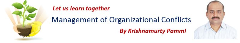 Management of Organizational Conflicts