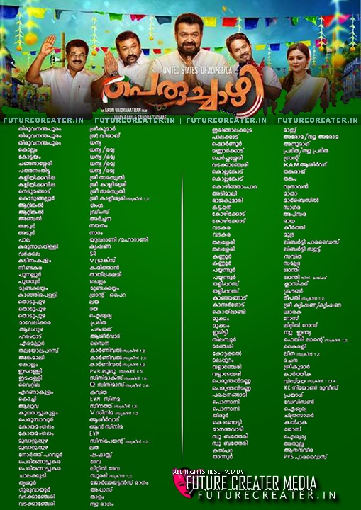 Peruchazhi Malayalam Movie Theater List | Peruchazhi Malayalam Movie Releasing Centers