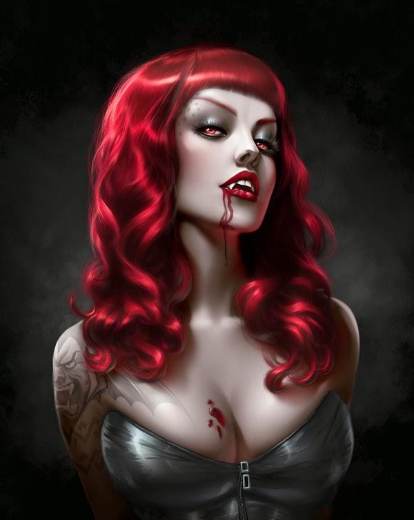illustration de Will Murai représentant une vampire sexy