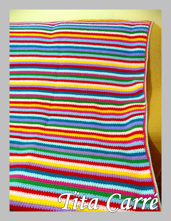 Colcha 10 cores em crochet