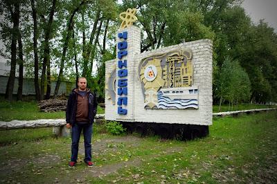 Tablica wjazdowa Czarnobyl.